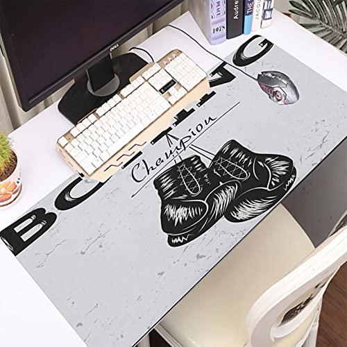 Premium-texturiertes Mauspad, Siegel Vintage Old Label Boxing Urban Handschuhe Effekt Sport Erholung Zeichnung Boxer Hand Retro Ka rutschfeste Gummi Basis Mousepad Gaming und Office mauspad für Laptop
