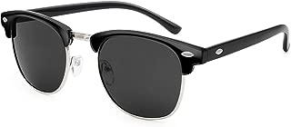 Livhò Polarized Sunglasses Women Men Semi Rimless Frame Retro Sunglasses