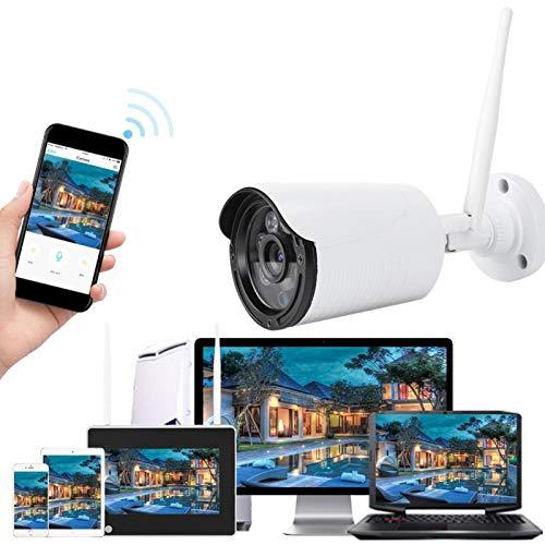Cámara de Seguridad inalámbrica, Sistema de cámara de Seguridad WiFi NVR de 7 Pulgadas, cámara de vigilancia de Monitor de Seguridad para el hogar de visión Nocturna a Prueba de Agua(UE)