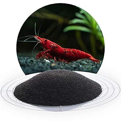 Schicker Mineral Schwarzer Aquariumsand Aquariumkies 0,4-0,8 mm oder 2-3 mm, 10 kg Sack, farbecht, Salzwasser und Süßwasser geeignet, kantengerundet