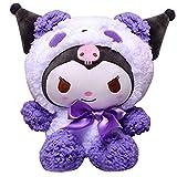 Kawaii Plush Kuromi My Melody Cinnamoroll Cute Cartoon Pillow Doll Stuffed Soft Plushies Toys (Plush Kuromi, 25CM)