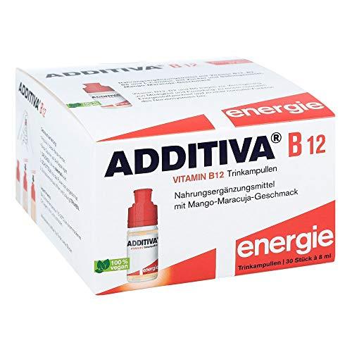 ADDITIVA Vitamin B12 Trinkampullen, Farblos, 8 ml (3er Pack)