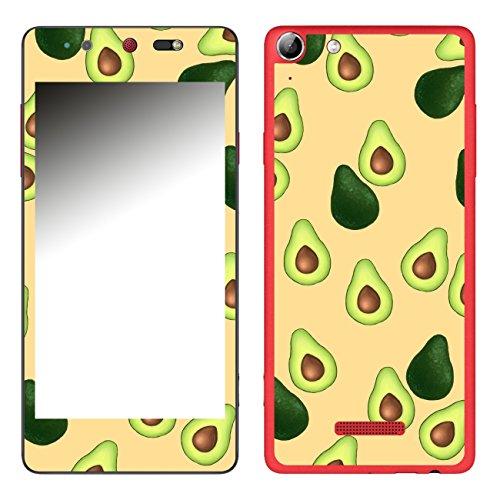 DISAGU SF-106693_1123 Design Folie für Wiko Selfy 4G - Motiv Avocados Muster orange
