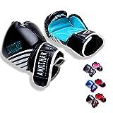 OLYSPM Guantes de Boxeo para niños|4oz-14oz|para Entrenamiento,Combate,Kickboxing,Lucha|Guantes de Box Color múltiple(Azul Claro)