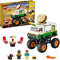 LEGO Creator 3in1 Monster Burger Truck 31104 Building Kit, Cool Buildable Toy for Kids