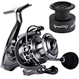 Sougayilang Fishing Reel 13+1BB Light Weight Ultra Smooth Aluminum Spinning Fishing Reel with Free Spare Graphite Spool (XY3000)