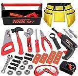 Kids Tool Set - 32pcs Pretend Play Construction Tool Toys Kit with Tool