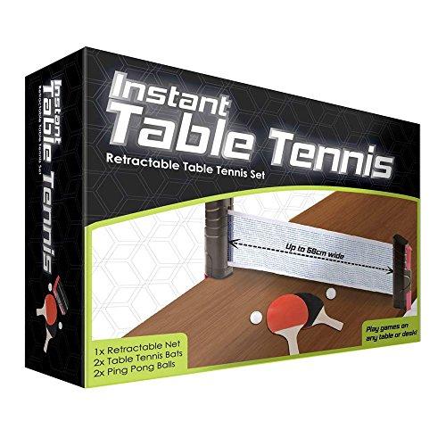 Juego de tenis de mesa instantáneo retráctil