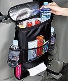 Kabalo Organisateur de siège de voiture / Tidy avec sac isotherme et distributeur de tissus, porte-boissons...