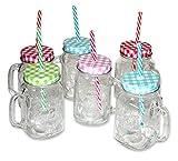 Conjunto de 6 Vasos de vidrio con asa 'Vintage Style'