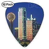 Dallas - Púas para guitarra acústica, eléctrica, bajo, ukelele