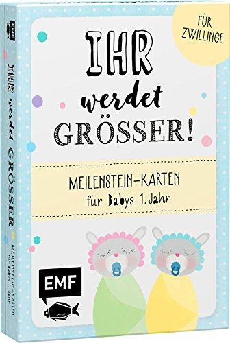 Ihr werdet größer! Meilenstein-Karten für Babys 1. Jahr – Für Zwillinge: Karten für besondere Erinnerungsfotos