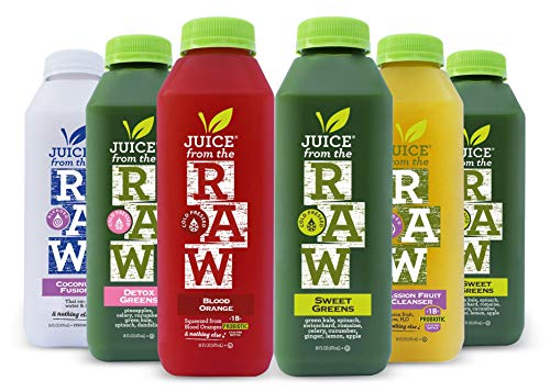 3-Day Juice Cleanse with Probiotics by Juice From the RAW - Improve Digestive System / Lose Weight Quickly / Detoxify Your Body / Be Healthy / 100% Raw Cold-Pressed Juices (18 Total 16 oz. Bottles)