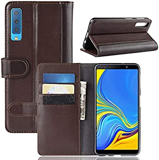 の Samsung Galaxy A7 (2018) A750 シェル, [余分な カード スロット] Happon [財布 シェル] PU レザー TPU ケーシング ケーススリム [ドロッププロテクション] カバー の Samsung Galaxy A7 (2018) A750, Brown