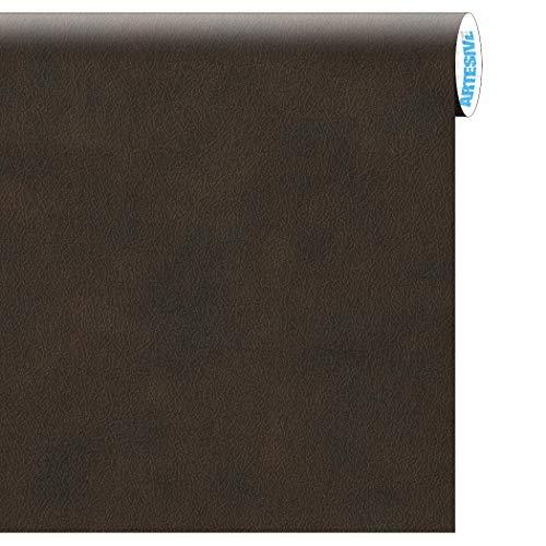 ARTESIVE TEC-021 Cuero Marrón 30 cm x 5 MT. - Película Adhesiva