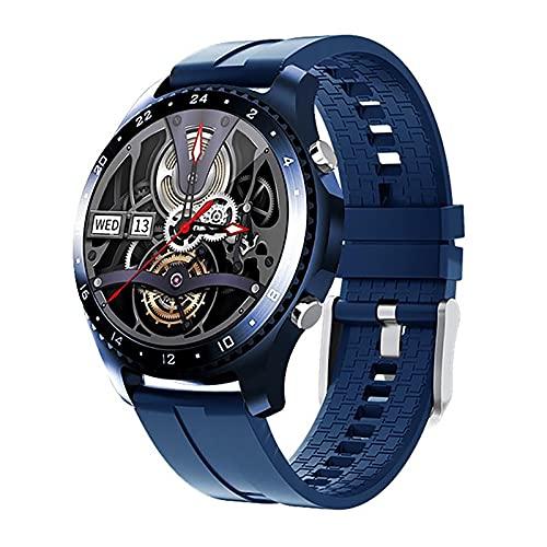 ZGZYL Reloj Inteligente CK30 para Hombre, Llamada Bluetooth, Monitor de frecuencia cardíaca, esfigmomanómetro, rastreador de Ejercicios, Reloj Deportivo, iOS, Reloj Inteligente Android