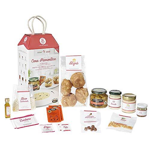 Cena Piemontese My Cooking Box con Bignè e Risotto al Castelmagno per 2 Porzioni - in collaborazione con Ponti - Idea Regalo San Valentino 2020