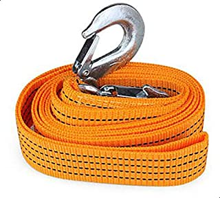 Car Towing Rope Orange With Hooks 3 Meters - 3 Tons