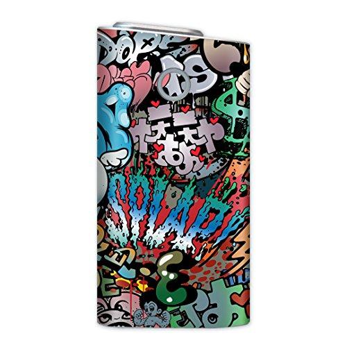 glo グロー グロウ 専用スキンシール 裏表2枚セット カバー ケース 保護 フィルム ステッカー デコ アクセサリー 電子たばこ タバコ 煙草 喫煙具 デザイン おしゃれ glow クール 英語 イラスト 文字 006746