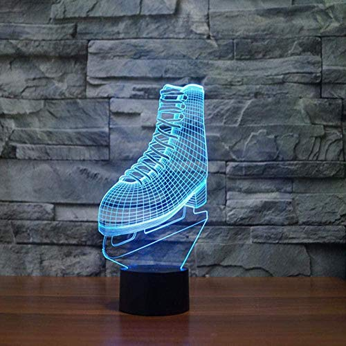 Lámpara ilusión 3D 7 colores cambian luz LED noche