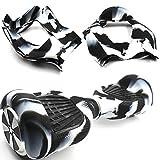 Dragon-five Negro/Blanco Flexible de Silicona Cubierta de la Caja Protectora 6,5 Pulgadas Smart Self Balancing Patinete Eléctrico Scooter