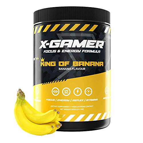 X-Gamer X-Tubz - Gaming Booster Pulver - Shake It Yourself - 600g (60 servings) (King of banana)
