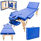 RTYUIO Mesa de Masaje portátil sofá Cama SPA 3 Secciones Plegable Belleza Profesional Ligero para Terapia salón Tatuaje Reiki curación