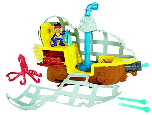 Mattel Fisher-Price BDJ02 - Jake und Nimmerland Piraten U-Boot Bucky