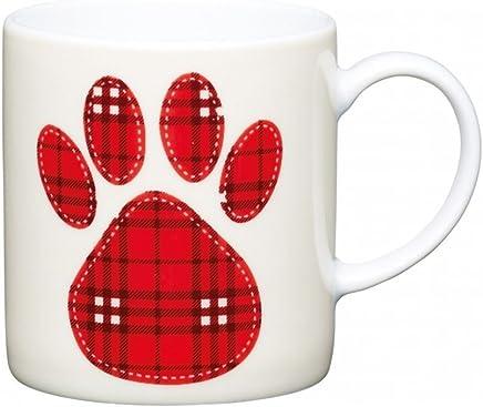 Preisvergleich für Kitchen Craft Tasse für Kaffee Paw Print 80ml, mehrfarbig, 14x 14.2x 7cm