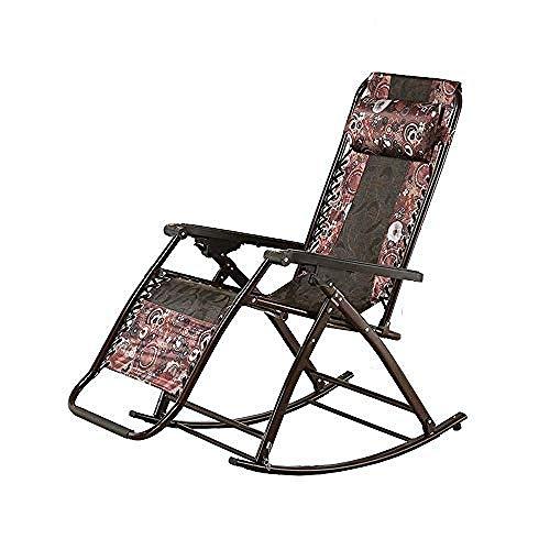 Lounger Lounge Chair, Zero Gravity Chair, Relax-schommelstoel, verstelbare opvouwbare, draagbare gewatteerde loungestoel voor buitenterras zwembad