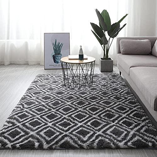 QXXKJDS Alfombra gris teñido suave alfombras para sala de estar, dormitorio, alfombra antideslizante de absorción de agua (color: A13, tamaño: 60 x 200 cm)
