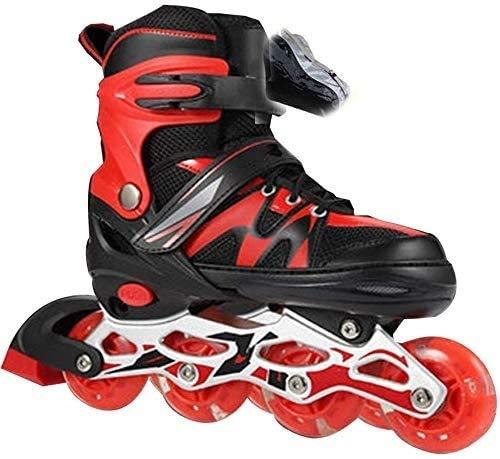 Patines en línea Patines en línea ajustables para niños Blades de rodillos de una sola fila Profesional Adulto Adulto Patinaje de velocidad en línea Zapatos de fibra de carbono Principiante Deportes a