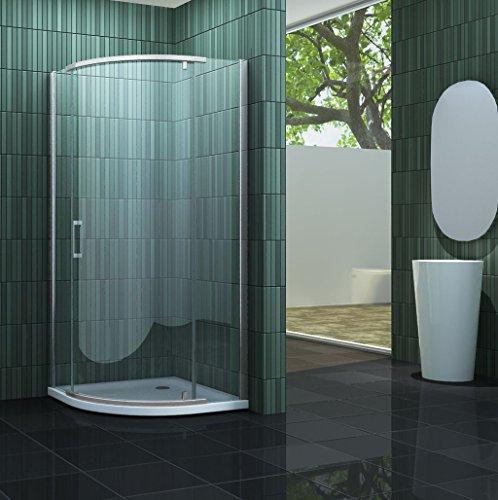 Duschkabine SWALL 90 x 90 x 195 cm (Viertelkreis) ohne Duschtasse