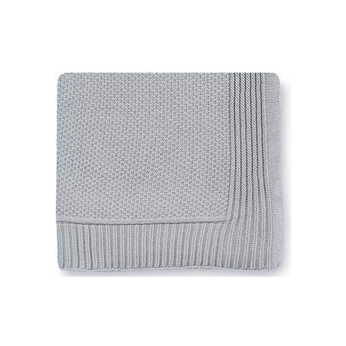 Pirulos 28013010 - Toquilla tricot texturas, 80 x 110 cm, color gris