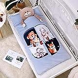 Bebé otoño e invierno bebé saco de dormir edredón cálido antideslizante algodón niño 7-12 años bebé-Little bear_75cm * 155cm saco de dormir niños