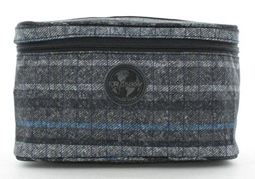 Franky Kulturbeutel Waschtasche Washbag KB8 Grey Flanel Stripe