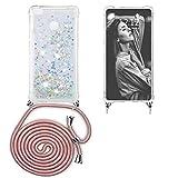 Ptny Funda Glitter Liquida con Cuerda para Xiaomi Redmi Note 5A, Brillante Cristal Suave Silicona...