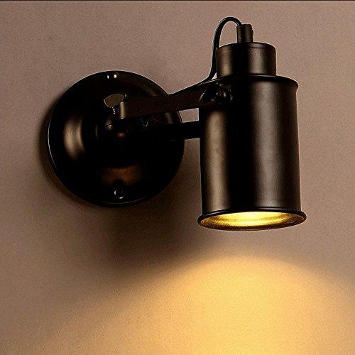 JJZHG wandlamp binnen muur lamp wind LED badkamer spiegel koplampen gangpad slaapkamer nachtlampje sfeer muur lamp, zwart omvat: wandlampen, wandlamp met leeslamp, wandlamp met stekker