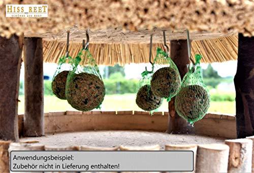 Vogelhaus mit Reetdach Futterhaus Futterstation -74 cm- traditionell eingedeckt - 4