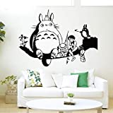 Wall Decal Japanese Cartoon Totoro Wall Decal My Neighbor Totoro Wall Stickers for Kids Rooms Nursery