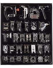مجموعة آلة الخياطة المحلية 32 قطعة لآلات الخياطة للأخ وبيبي لوك وسينجر وجانوم وإلينا وتويوتا ونيو هوم وبسيطة ونيتشي وكينمور ومنخفضة شانك
