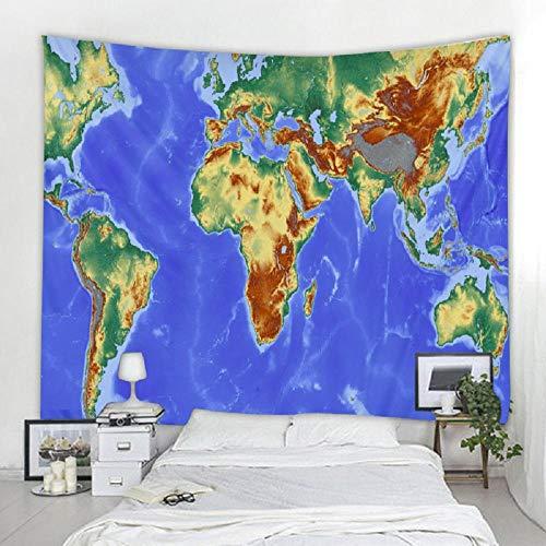Imprimir mapa del mundo tapiz colgante de pared de poliéster toalla de playa manta fina de poliéster estera de mantón de yoga 150x200cm / 59x79inchch