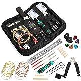 Fesjoy Set de mantenimiento de guitarra W006 Kit de reparación de guitarra Kit de mantenimiento de guitarra Juego de herramientas de mantenimiento Accesorios de limpieza
