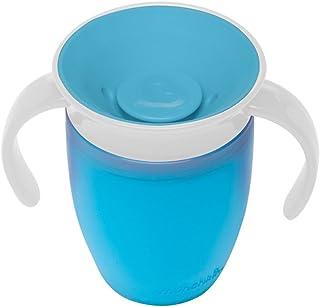マンチキン(munchkin) ベビー用 マグ こぼれない ハンドル / ふた 付き コップ 6カ月から 上手に飲める 練習 ミラクルカップ 196ml ブルー FDMU10800