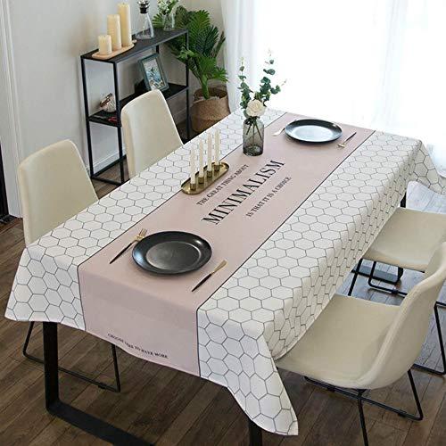 U/A 1 mantel rectangular extraíble y lavable rectangular para mesa de comedor de cocina, a prueba de polvo, decoración de mesa de jardín