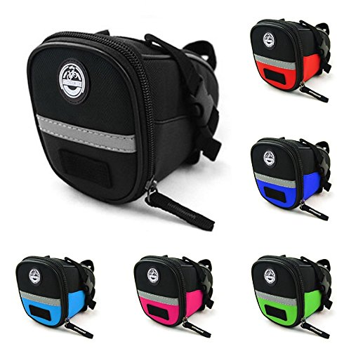 Social Ride Cycle Co. Seat Pack, Seat Post Bag, Bicycle Seat Bag in Exciting Colors (Pink)