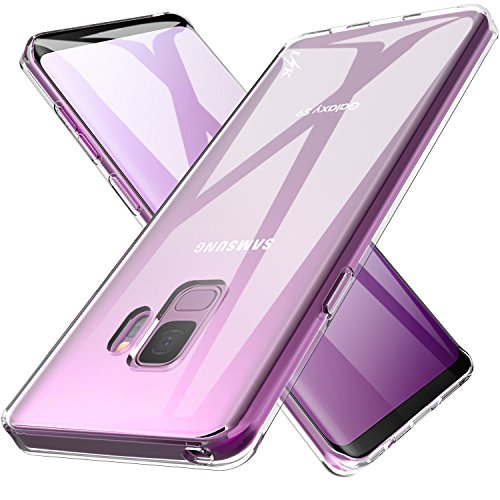 LK Galaxy S9 Case, Ultra [Slim Thin] Scratch Resistant TPU Rubber Soft Skin Silicone Protective Case Cover for Samsung Galaxy S9 (Clear)