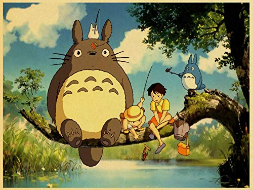 Japanese Anime Totoro Poster Standard Size 18×24 inches