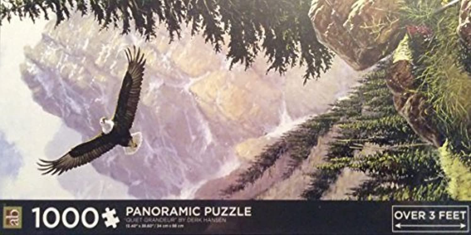 Derk Hansen 1000 Piece Panoramic Puzzle 'Quiet Greeur' by Derk Hansen Panoramic Puzzle
