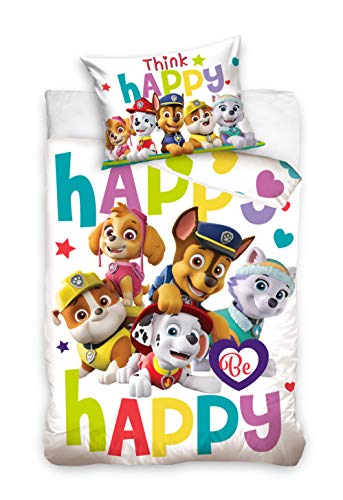 Paw Patrol Kinderbettwäsche - Childrens Bedding - Literie Enfant - Ropa de cama para niños - Bincheria da letto per Bambini 100x135cm / 40x60cm BABY203002